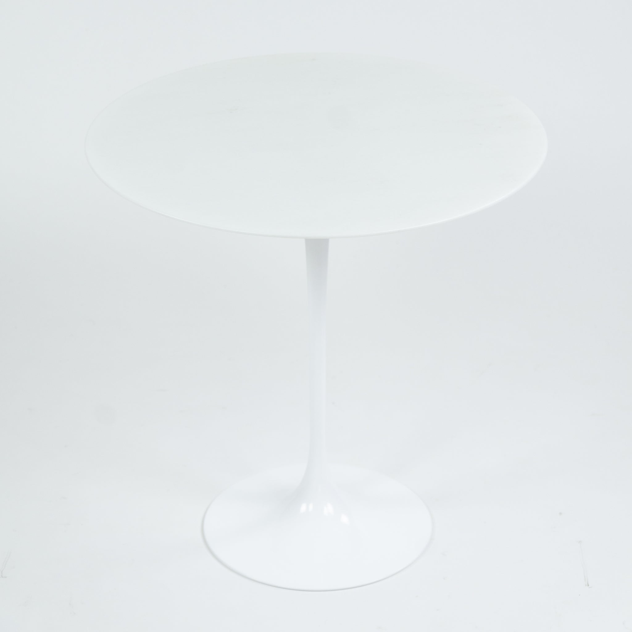 New Eero Saarinen For Knoll 20 Inch Tulip Side Table Matte White Marble Top 2x