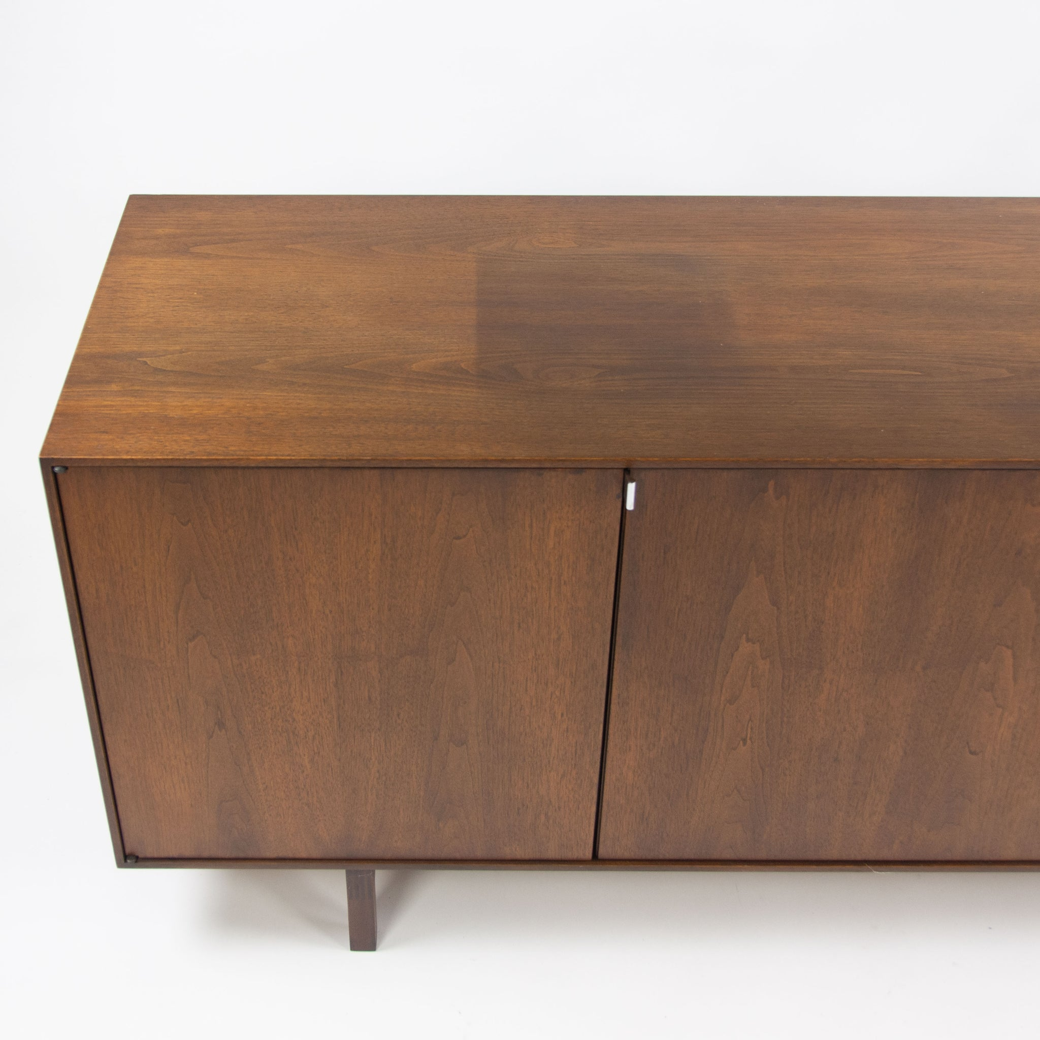 1960's Florence Knoll Museum Quality Walnut Credenza Cabinet Sideboard
