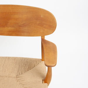 1950s Hans Wegner CH-22 Oak Lounge Chairs Denmark Carl Hansen & Son 4x available