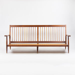 SOLD 1960's Original Vintage George Nakashima Studio Cherry Settee Sofa w/ Arms