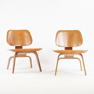 Eames Evans Herman Miller 1948 LCW Lounge Chairs Wood Walnut Rare Pair