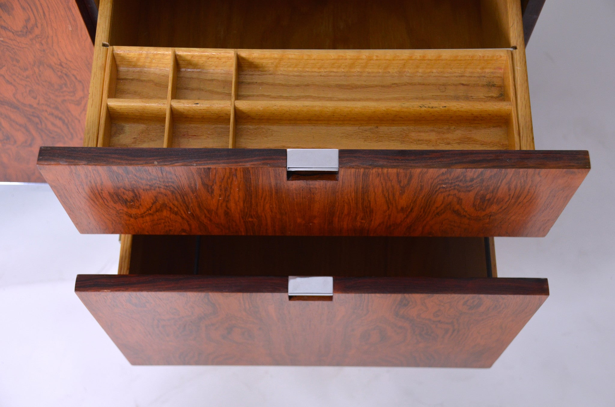 SOLD Florence Knoll Vintage Rosewood and Marble Credenza Cabinet Sideboard
