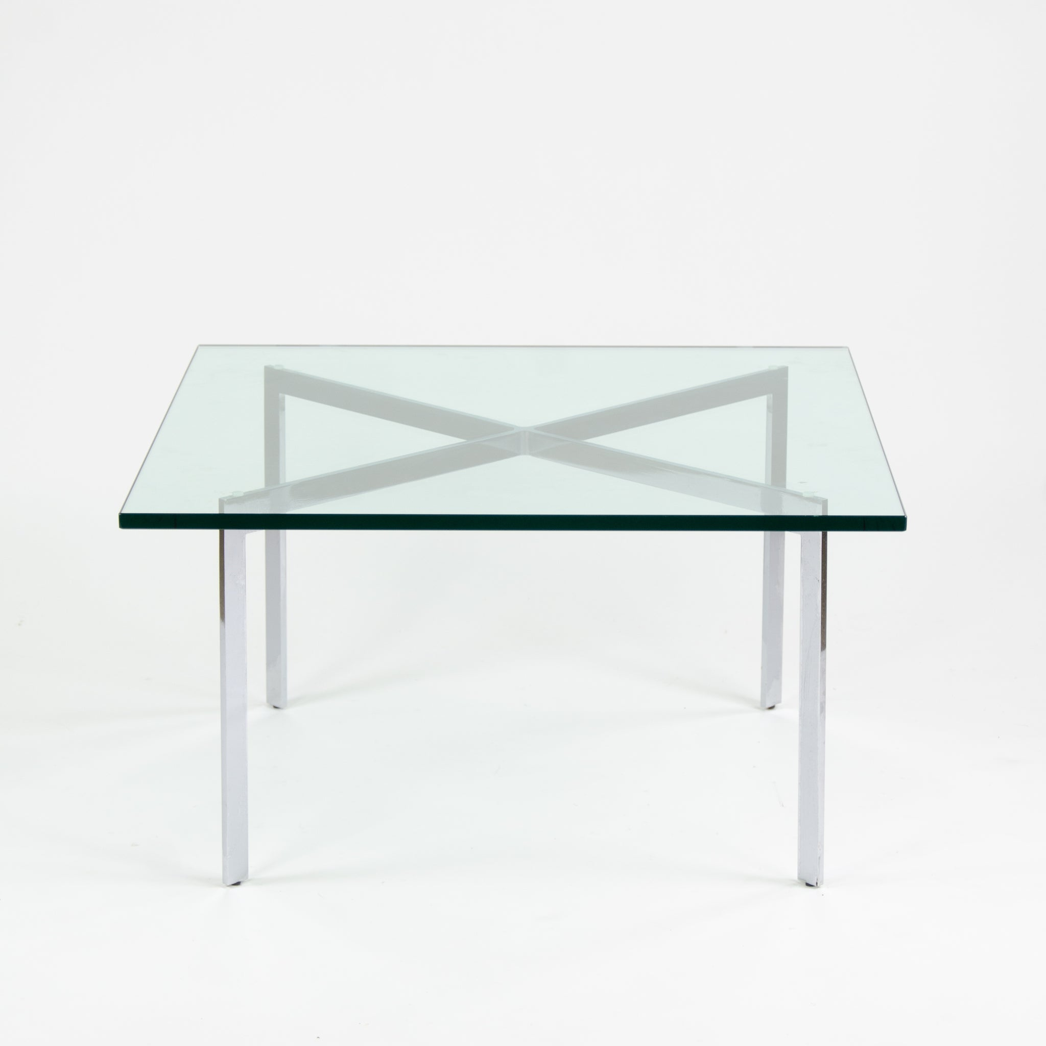 SOLD Knoll Mies Van Der Rohe Barcelona Coffee Table 34 Inch Glass Steel