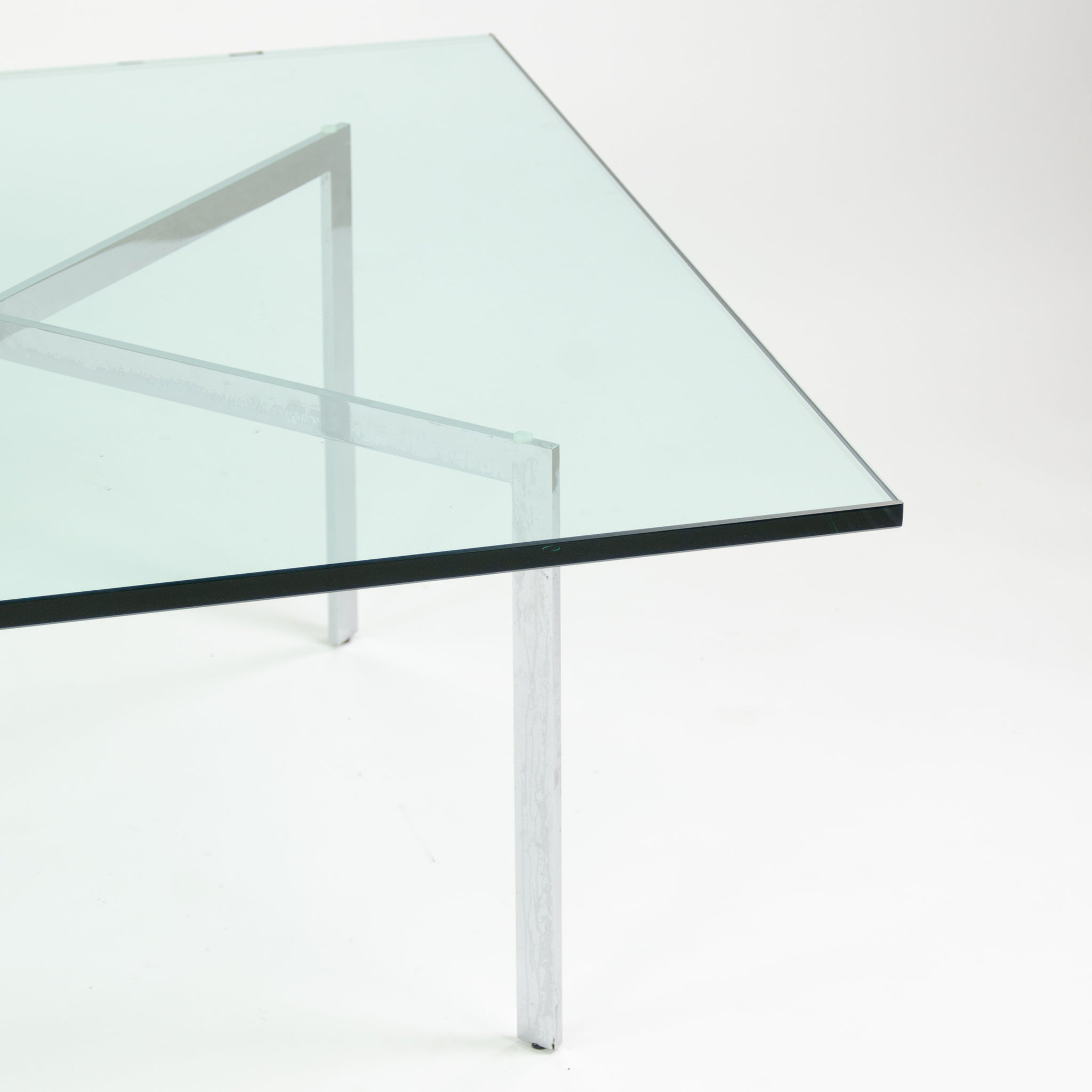 SOLD Knoll Mies Van Der Rohe Barcelona Coffee Table 40 Inch Glass Steel