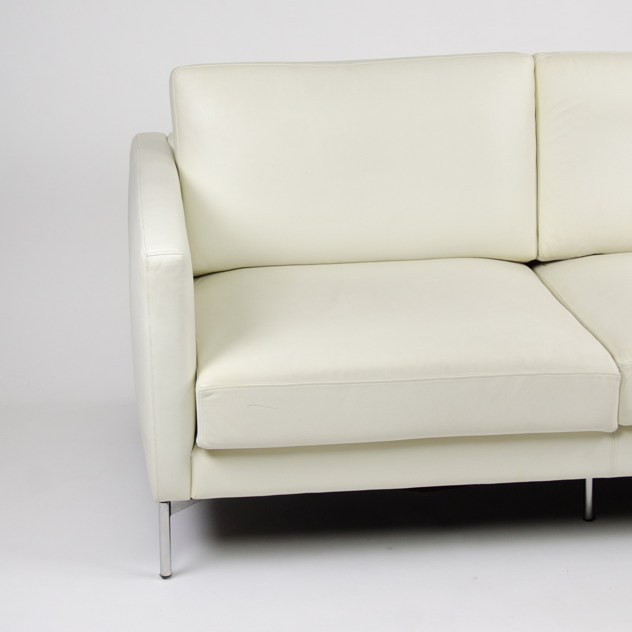SOLD Knoll International Divina Settee Sofa by Piero Lissoni MINT! Ivory Leather
