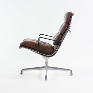 1970's Museum Quality Eames Herman Miller Soft Pad Aluminum Lounge Chair Brown