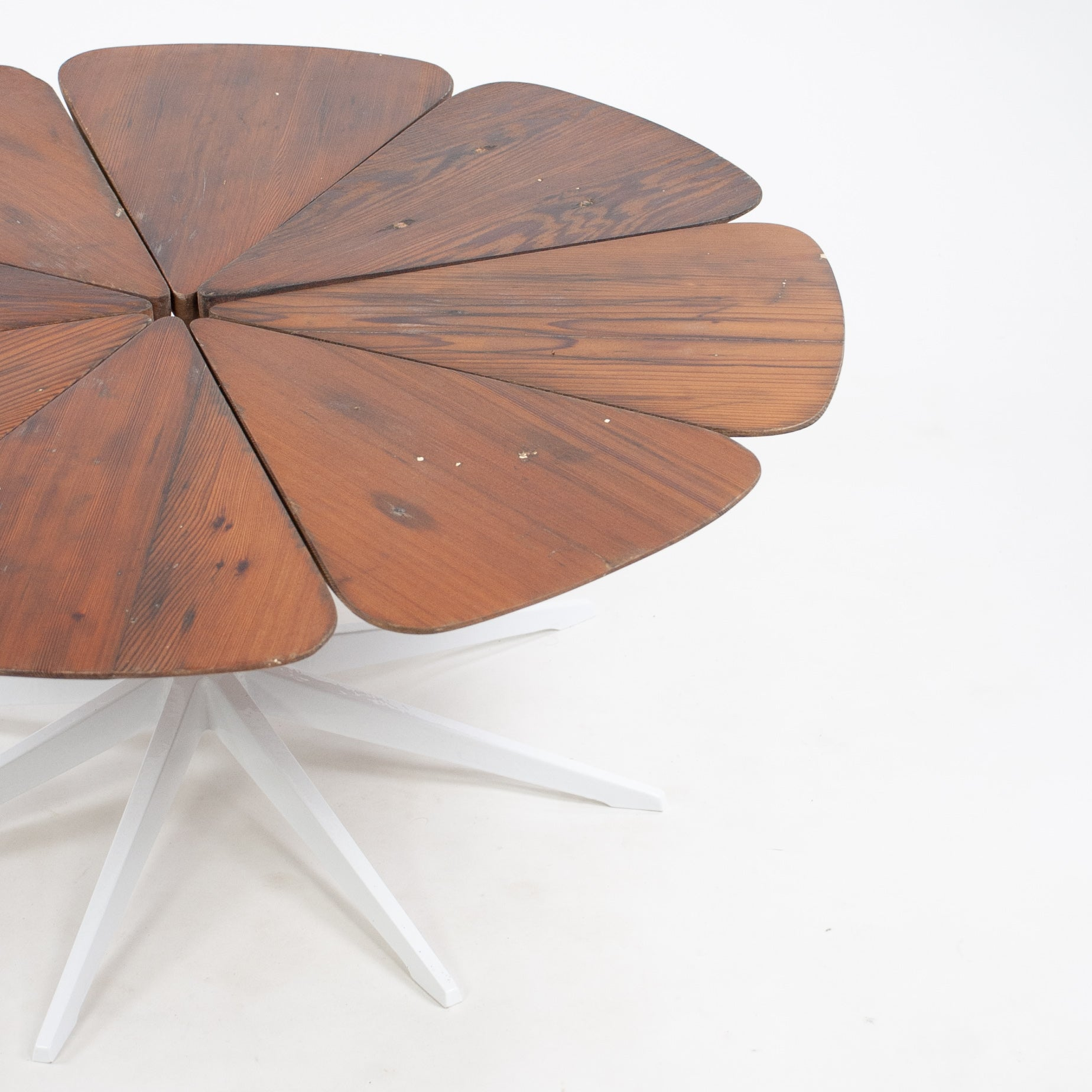 1960's Richard Schultz For Knoll International Petal Coffee Table Vintage Redwood
