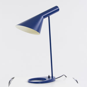 Louis Poulsen Arne Jacobsen AJ Table Desk Lamp Blue Denmark NOS Floor Model