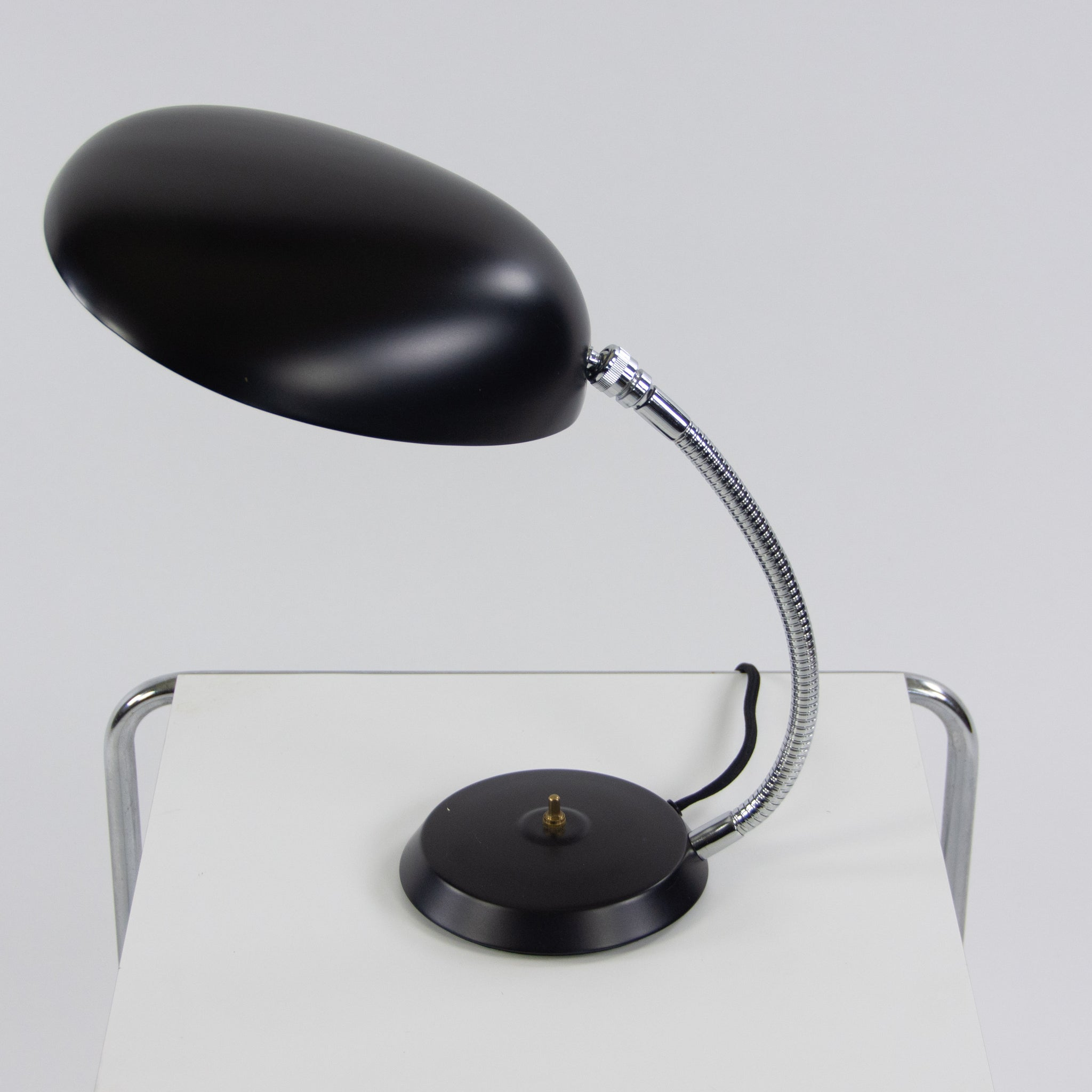 SOLD Gretta Magnusson Grossman Cobra Lamp Black Original Gubi Denmark
