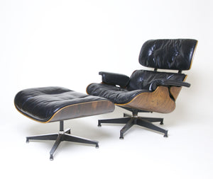 SOLD 1956 Herman Miller Eames Lounge Chair U0026 Ottoman Rosewood With Boot  Glides 670 671