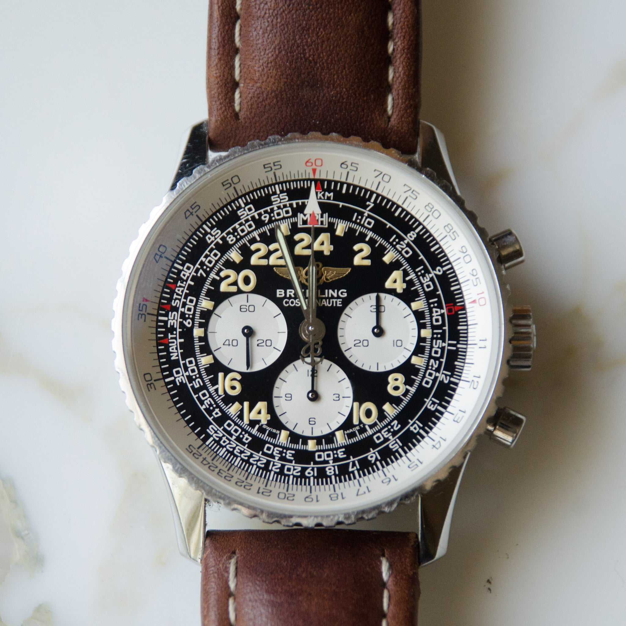 SOLD Breitling Navitimer Cosmonaute A12023 Limited Edition 1995 Display Back Manual