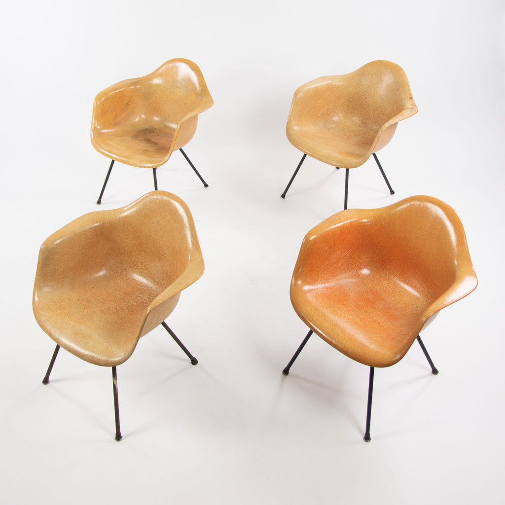 1954 Set of Four Eames Herman Miller Zenith LAX Lounge Chair Armshell Fiberglass
