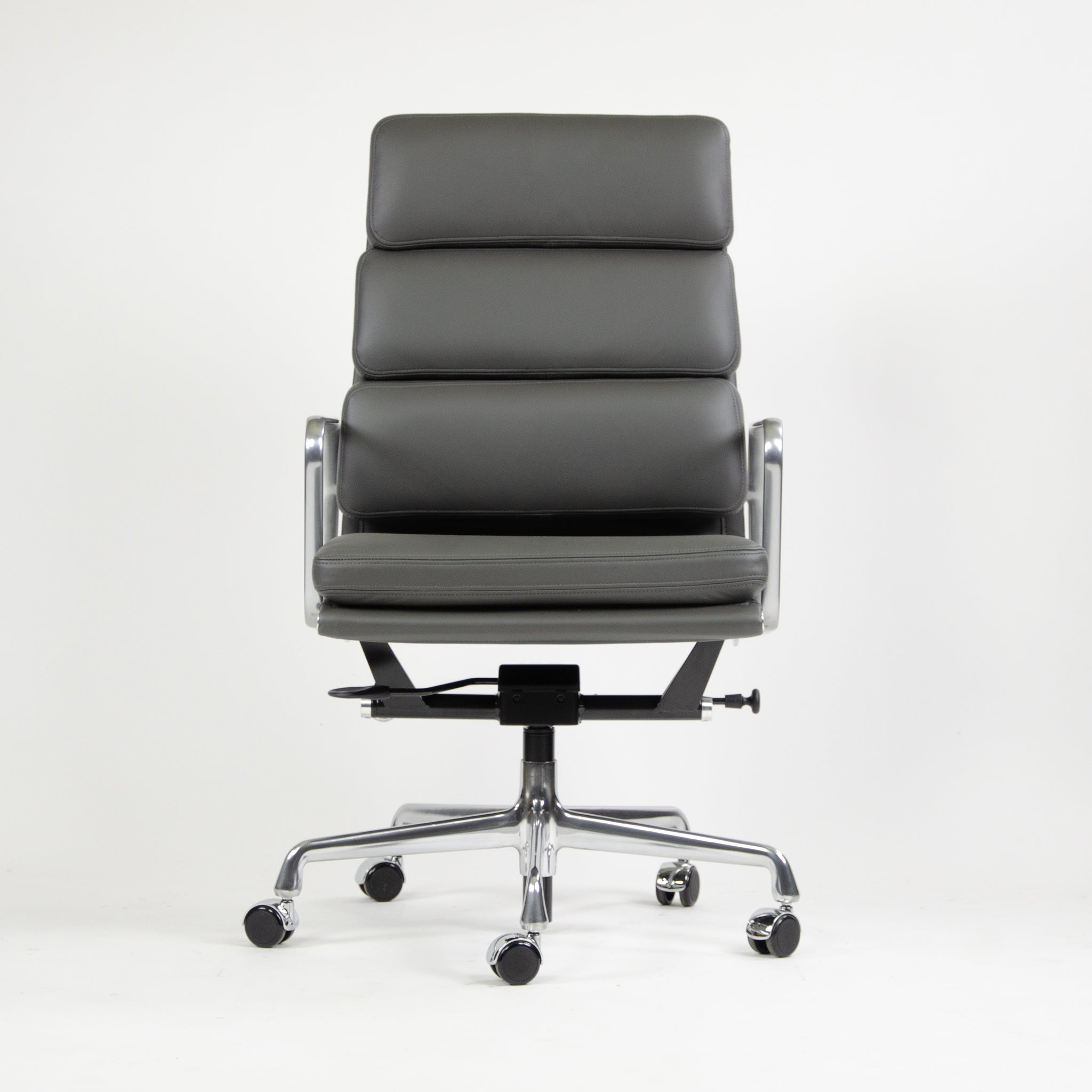 SOLD NEW 2017 Eames Herman Miller High Soft Pad Alu Desk Chairs 9x Graphite Leather
