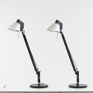 Mario Barbaglia and Marco Colombo Vintage Italiana Luce Mod Studio Table Lamp 2x