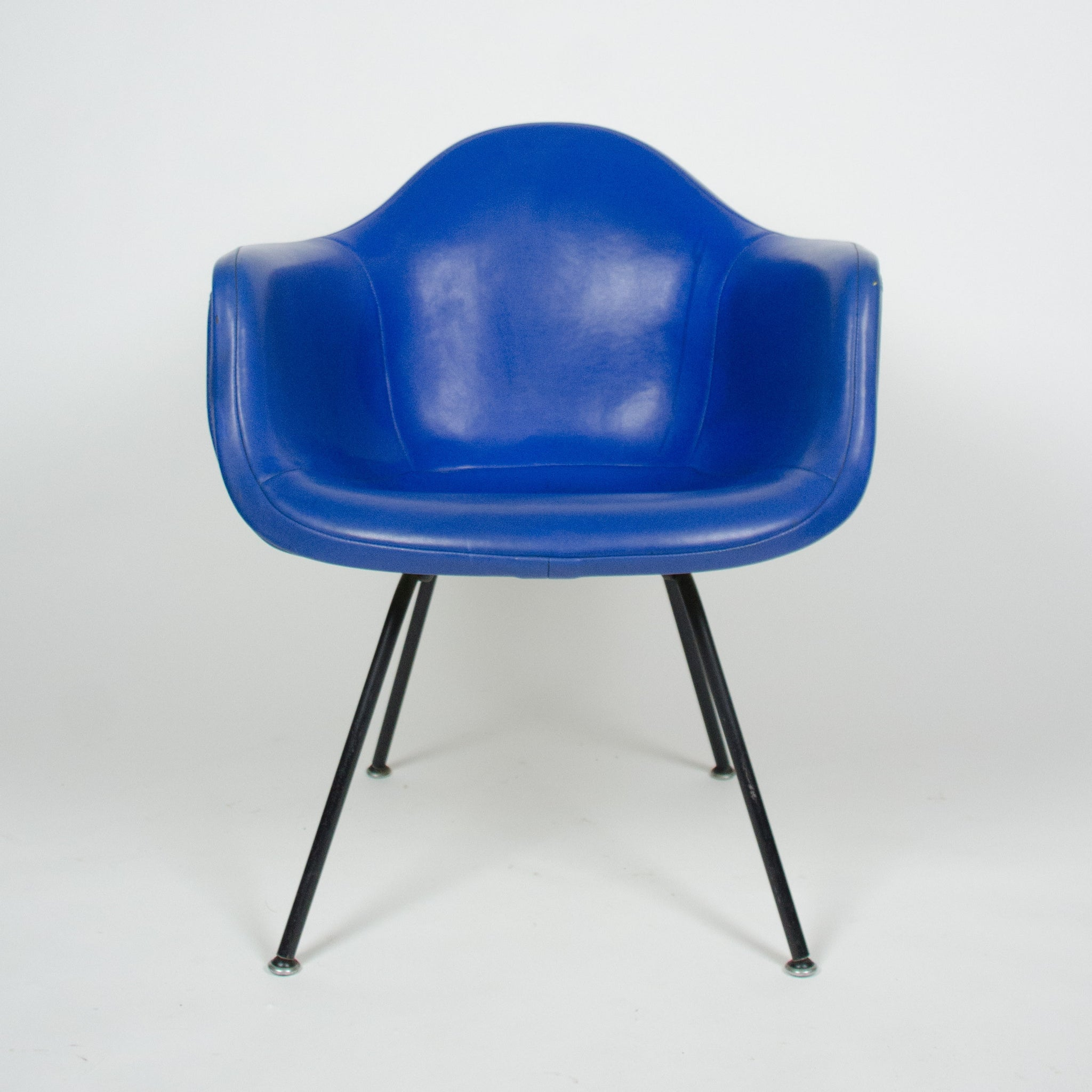 Eames Yellow U0026 Blue Herman Miller Upholstered Fiberglass Shell Chair DAX 1