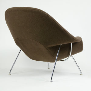 SOLD Eero Saarinen Womb Chair Knoll International Full-Size Brown Boucle Fabric