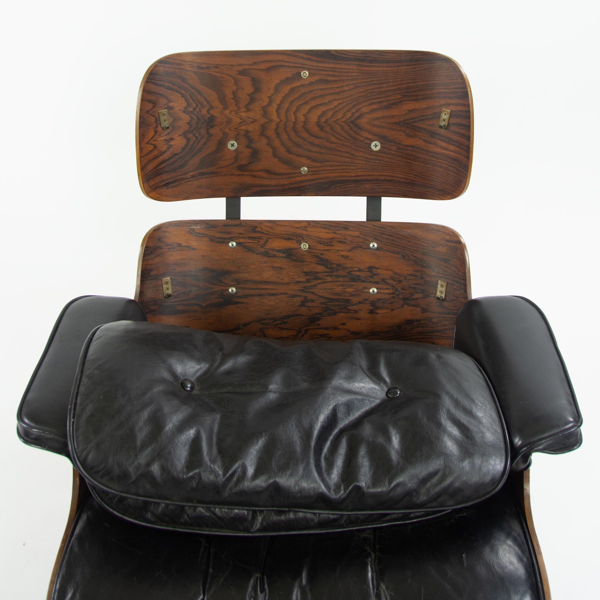 1956 Holy Grail Herman Miller Eames Lounge Chair w Swivel Ottoman Boots 670 671