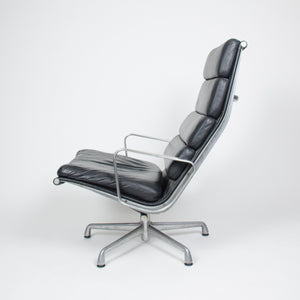 SOLD Eames Herman Miller Soft Pad Lounge Chair with Ottoman Black