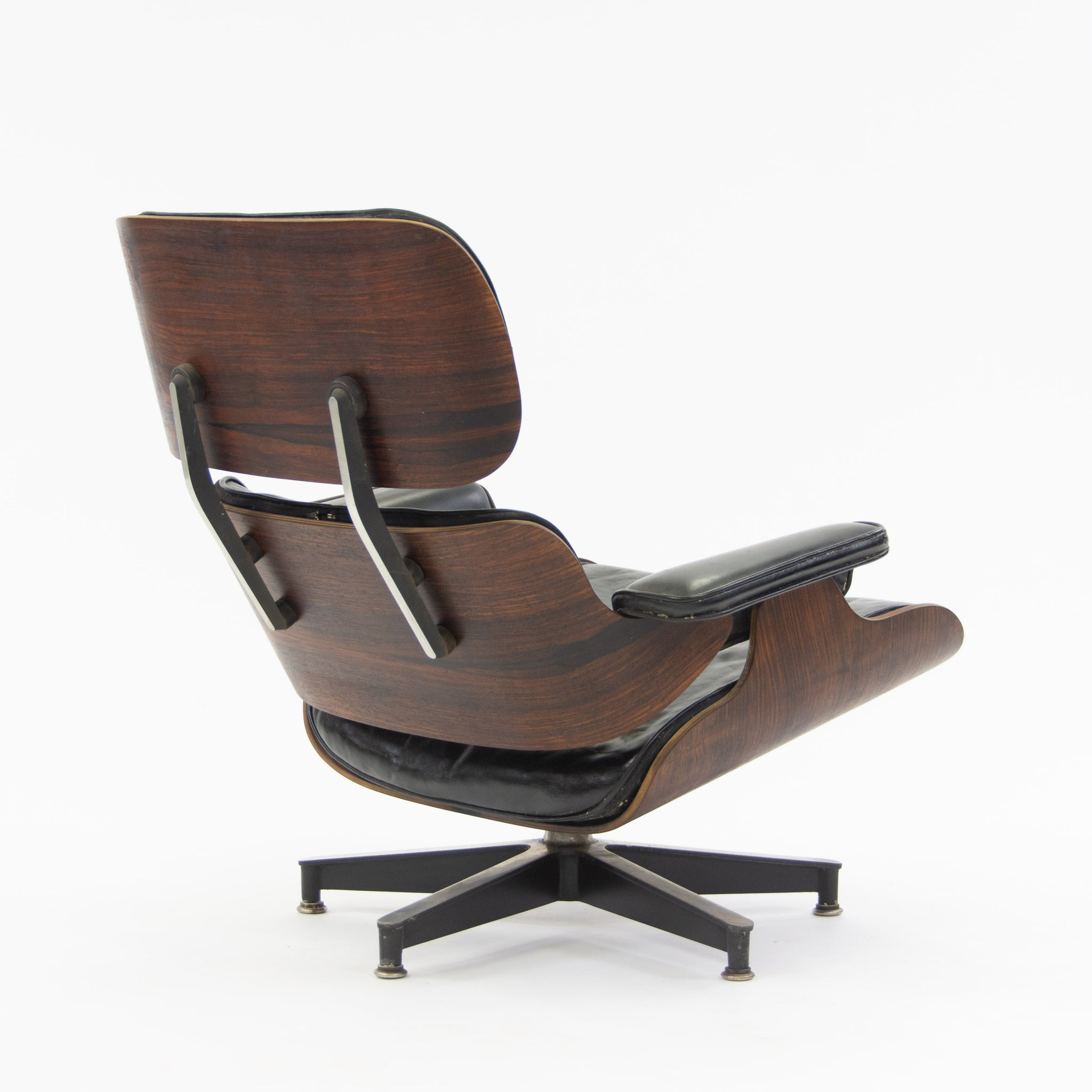 SOLD 1956 Herman Miller Eames Lounge Chair & Ottoman Rosewood 670 671 Black Leather