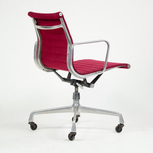 SOLD Herman Miller Eames 1982 Aluminum Group Executive Desk Chair Red Fabric