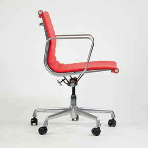 SOLD Herman Miller Eames 2007 Aluminum Group Executive Desk Chair Red Fabric 2x Available