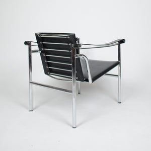 SOLD Authentic Le Corbusier For Cassina LC1 Basculant Lounge Chairs Pair Marked