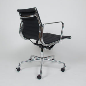 SOLD Eames Herman Miller Aluminum Group Executive Desk Chairs Black Fabric 20 Available