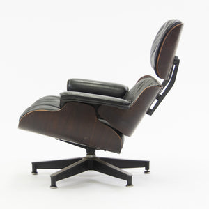 SOLD 1950's Herman Miller Eames Lounge Chair & Ottoman Rosewood 670 671 Black Leather
