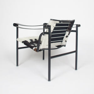 SOLD Authentic Le Corbusier Cassina LC1 Basculant Lounge Chair Cowhide Marked