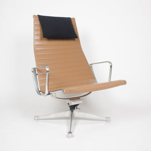 SOLD Eames Herman Miller Aluminum Group Lounge Chair with Ottoman Tan
