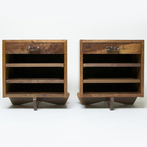 SOLD Authentic Mira Nakashima Kornblut Special Bedside Cases, George Nakashima Studio