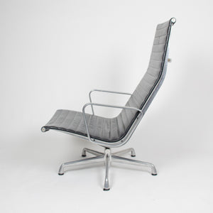 SOLD Eames Herman Miller High Back Aluminum Group Lounge Chair Black Leather