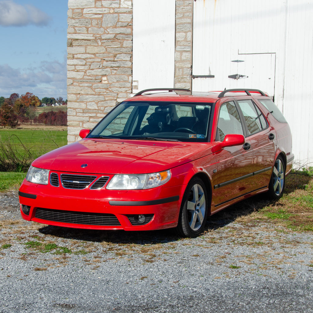 SOLD 2004 Saab 9-5 Hot Aero RARE Estate 5-Speed Manual Laser Red 1 of 11 Produced