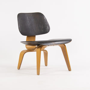 1953 Rare Eames Herman Miller LCW Lounge Chair Wood Calico Ash Dual Tone Black