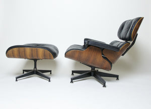 SOLD Herman Miller Eames Lounge Chair & Ottoman Rosewood 670 671