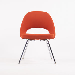 SOLD Knoll Studio 2007 Eero Saarinen Executive Armless Side Chair Red Orange 12 Available