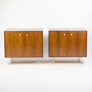 Pair 1950s George Nelson Herman Miller Thin Edge Rosewood Dresser Cabinet