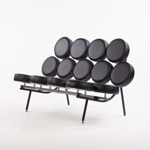 SOLD 2000's Original George Nelson Herman Miller Marshmallow Sofa Black Upholstery