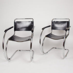 Knoll International Mies Van Der Rohe MR20 Armchairs Bauhaus Eames (2 pairs)