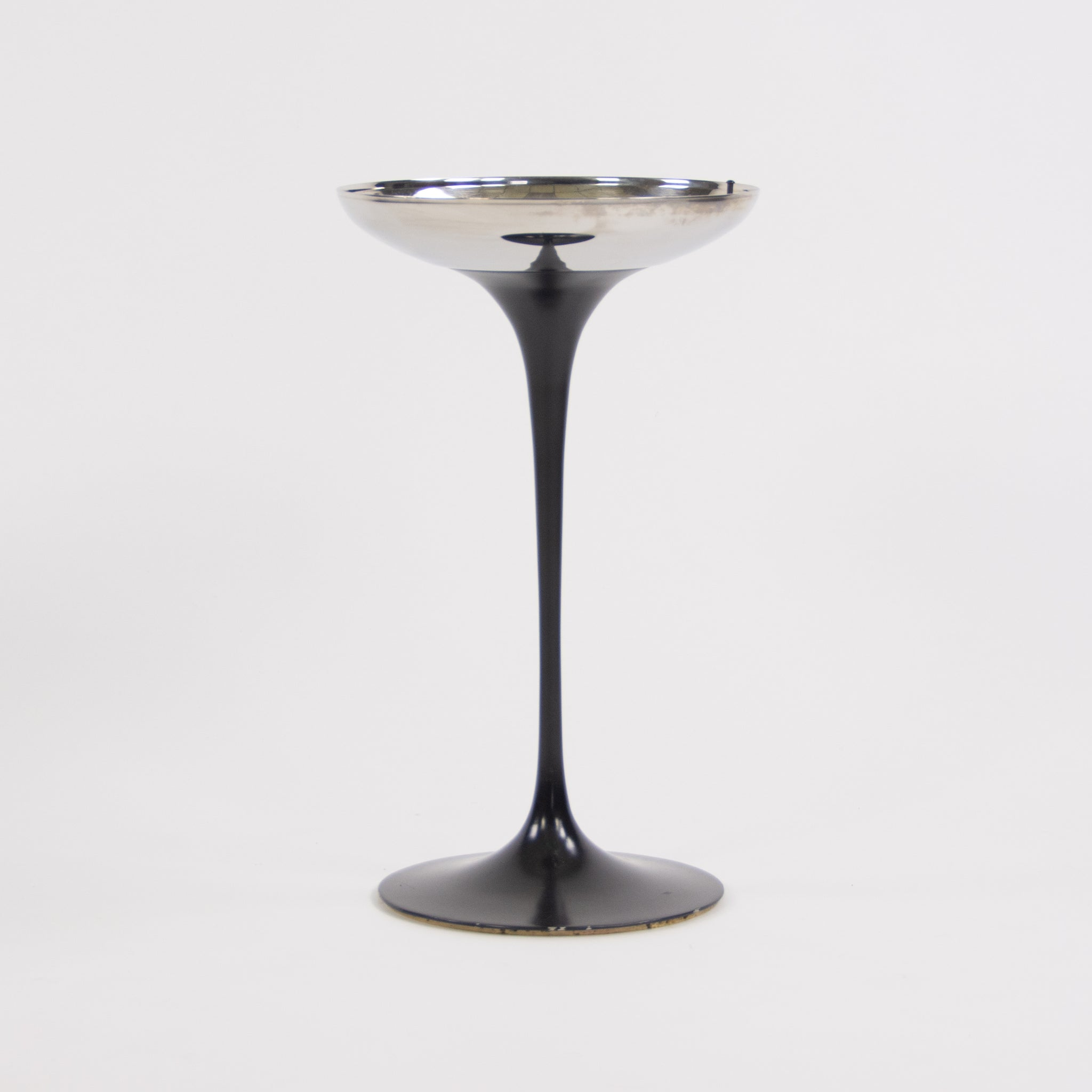 SOLD 1950's Vintage Eero Saarinen For Knoll International Tulip Ashtray Black Pedestal