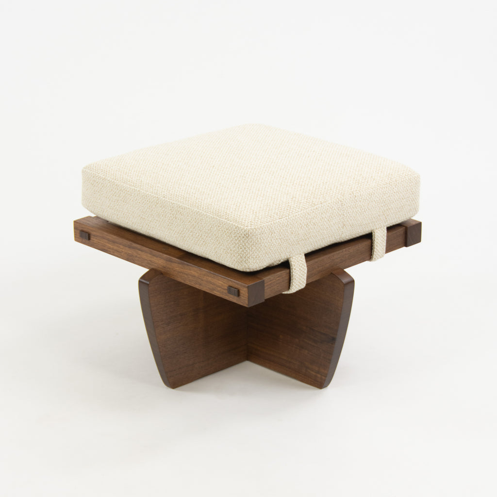 Mira Nakashima George Nakashima Woodworker Greenrock Ottoman Stool Black Walnut
