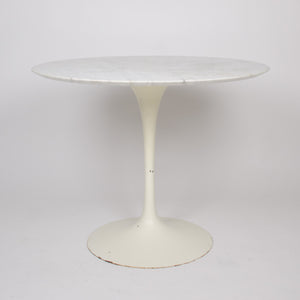 SOLD Eero Saarinen For Knoll 36 Inch White Marble Tulip Dining Table 1960's
