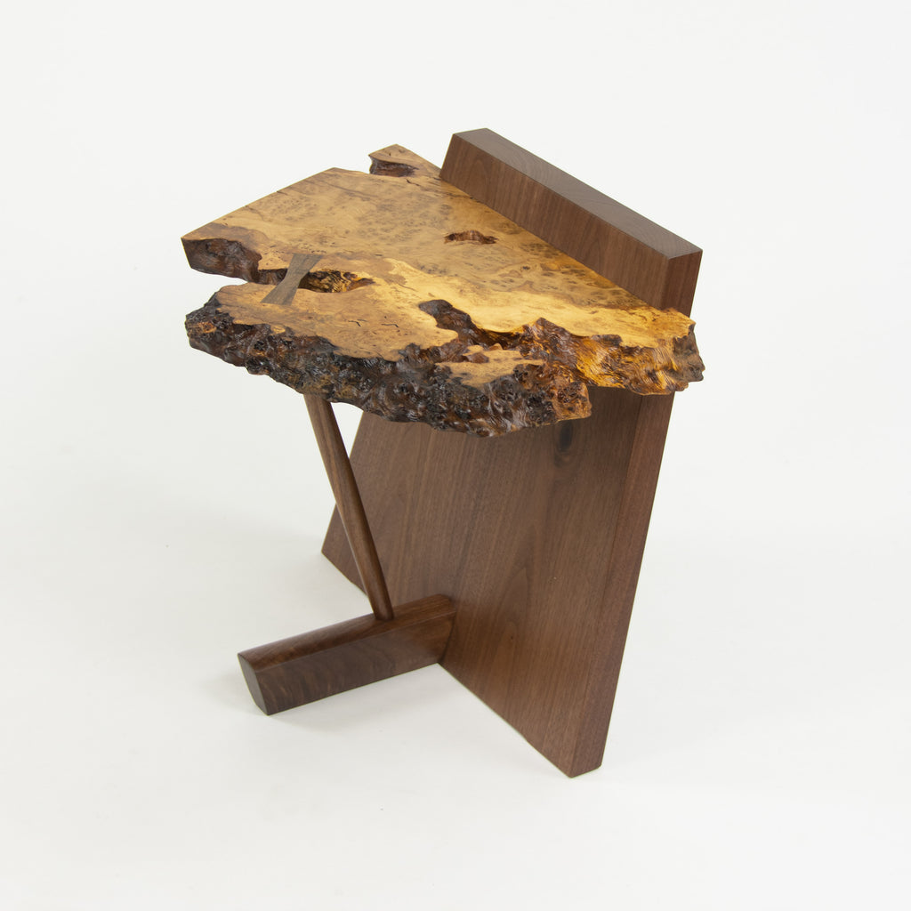 Mira Nakashima George Nakashima Woodworker Kevin End Table English Oak Burl