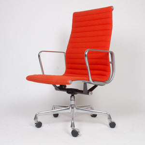 SOLD Eames Herman Miller Fabric High Executive Aluminum Group Desk Chairs (4x)