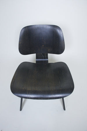 SOLD Eames Evans Herman Miller Early 40's 50's LCW Original Black Aniline Dye