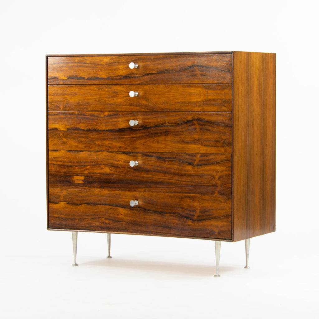 1950s Original George Nelson Herman Miller Thin Edge Rosewood Dresser Cabinet