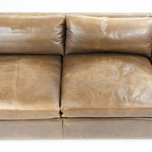 1978 Knoll Charles Pfister Brown Leather Sofa
