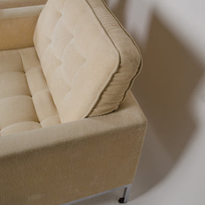 SOLD Matrix International Florence Knoll Lounge Chairs, Fabric, Made In Italy