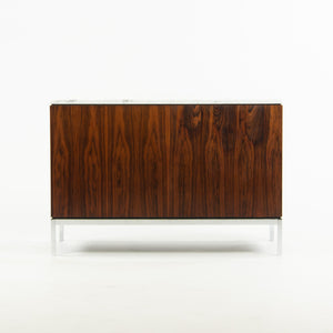 Florence Knoll Vintage Rosewood and Marble Credenza Cabinet Sideboard Finished Back