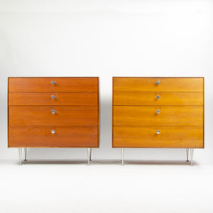 1950s George Nelson Herman Miller Thin Edge Dresser Cabinet 2x Available